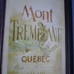affiche ancienne Mont Tremblant
