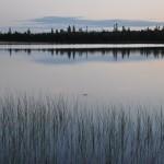 reflets sur le lac Larouche