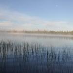 lac Larouche au petit matin