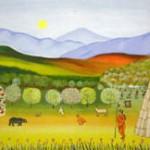 peinture vie indienne Mont Tremblant