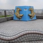 Poissons symbole de Nagoya que l'on a vu sur la toiture du Château