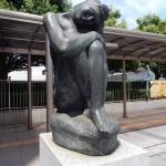 Sculpture sur la place du musée Boston