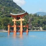 Tori gate sur l'île Miyajima