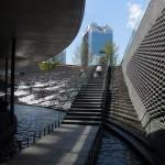 Quartier Umeda, bassin et cascade d'eau,