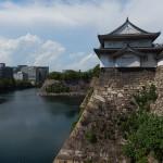 Entrée du Château, ses douves, objectif tourné vers Kyoto, Nara ...