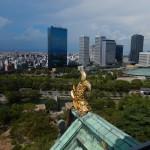 Vue d'Osaka du haut de la tour