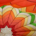 À l'intérieur d'une montgolfière