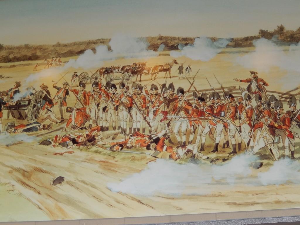 Peinture ancienne représentative d'une lutte féroce