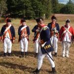 Des soldats anglais, au British Camp