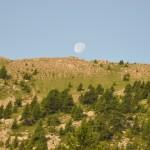 La lune qui se couche