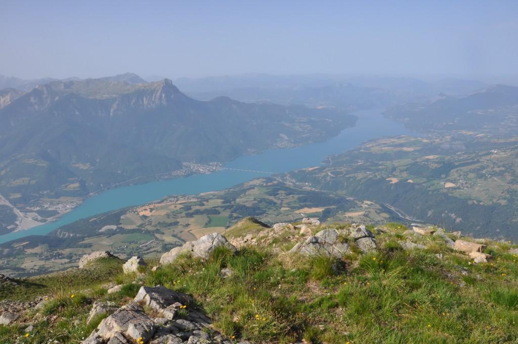 Lac de Serre-Ponçon du sommet du Mont Guillaume, pic Morgeon