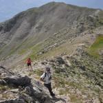Marc et Mireille montant au sommet du Mont Guillaume Nord