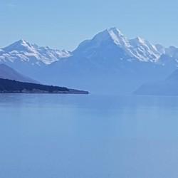 Mont Cook en arrière plan du lac Pukaki