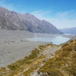 Tasman river qui se jette dans le lac Pukaki