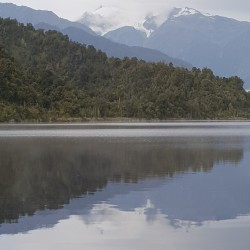 Franz Josef vue du lac Maporika où je campe