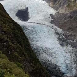 La récompense  vue du Glacier Franz Josef du dessus.