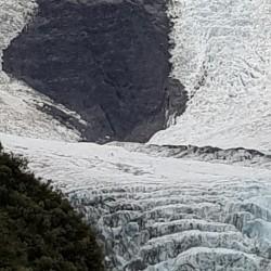 Franz Josef Glacier (on peut voir l'hélicoptère)