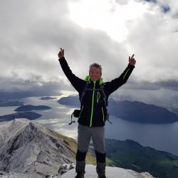 Claude au sommet du Roy's Peak