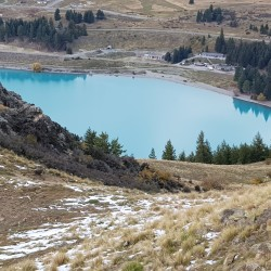 Lac Tekapo en montant le Mount John
