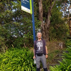 Claude au départ du Bill Haresnape Walk