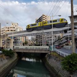 Centre Naha , le Monorail, la rivière et les routes...