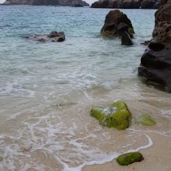 Parie rocheuse de la plage
