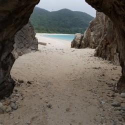 Extrémité de plage, montée vers Kubandaki lookout