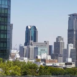 Vue d'une des terrasses d'Osaka Station City