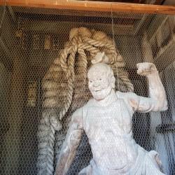 Statue Bouddhiste entrée (Deva statue pour protéger des ennemies du Boudhisme
