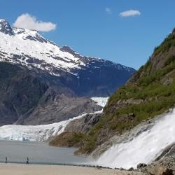 Le glacier, la chute, le lac