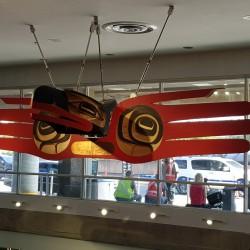 sculture indienne aéroport de Vancouver