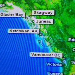 Carte côté Colombie Britannique /Alaska