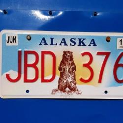 Plaque d'immatriculation ALASKA USA