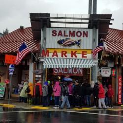 Salmono Market, ďélicieux saumon ... mais qu'il faut préserver d'une pêche intensive