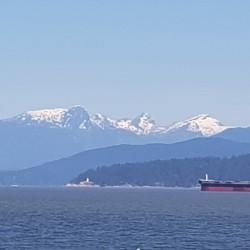 Vue vers Whisler de Vancouver