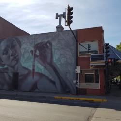fresque murale au droit de la rue saint Hubert
