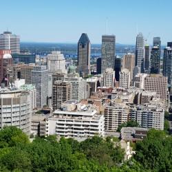 Centre de Montréal vue du belvédère du Mont Royal