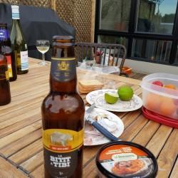 Une bonne bière sur une belle terrasse
