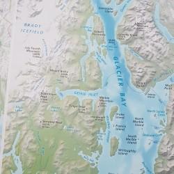 Carte de Glacier Bay