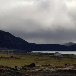 paysage autour de Blue lagoon