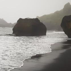 plage de Vik, photo prise vers 22:00